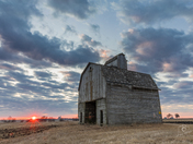 Sunrise at the Corncrib - Photo by Dave Austin