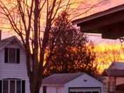 Morning sunrise before storm