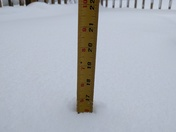 Raymond is at almost 17inches at 6:25 am