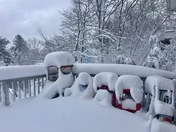 Snow covered toys