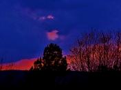 sunset clouds, 3-9-2018