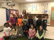 Ms. North Greenville Visits Mrs. Balentine's Class at Fountain Inn Elementary