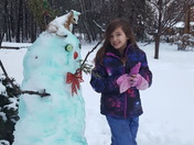 Brooke's Green Snowman