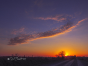Sunset in Madison County, Friday, March 9