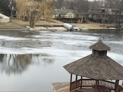 Rare ice circles formed overnight on Lake Candlewood in Omaha.