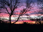 Sunset tonight near Ione