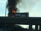 Bus fire on 99 north in Stockton near Arch road exit.