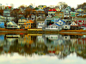 Reflections from Steamboat Wharf, Hull, MA...
