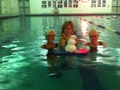 snowgirl at york jcc swimming pool