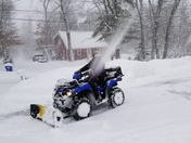 Having fun in the snow.