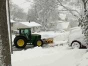 City of Brockton plow does removal on our tax dollar for our neighbor FREE during blizzard!