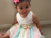 Happy 1st birthday Amaya Rose.