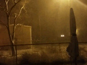 Snow from the Teacherage in Tohatchi, NM. At 9:05pm on 3/15