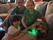 ST Patrick's Day little leprechauns