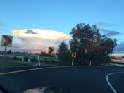 I took a picture of this cloud formation this afternoon at 99 Arden exit.