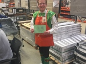 Diane at the Home Depot Danvers has some Irish spunk
