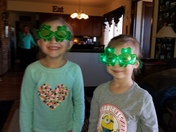 Happy St. Patrick's day! From Leyla and Olivia.