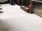 Folsom hail storm the afternoon of Saturday March 2018