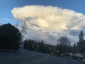 Strange cloud over Folsom ? Friday evening 3/16