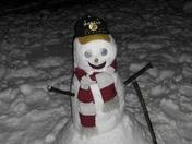 Bruins snowman