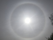 Circular Rainbow around the sun in Davis, CA today!