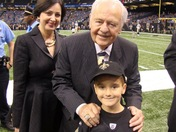 my son Brett Boudreaux's very 1st Saints game in 2010