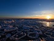 Pan Ice and a Sunset