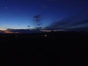Sutter Buttes after sunset