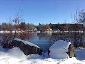 Merrimack River in Winter
