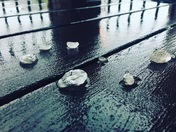 Hail on Balcony in Oviedo
