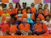 The youngest students at Clemson Elementary are the biggest Clemson fans!