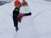 Grant with his snowman
