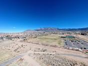 Looking towards the Sandia Mountains.