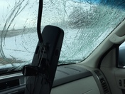 The Kennedy bridge threw a giant snowball at me 😡 #goawaywinter