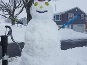 Softball Snowman