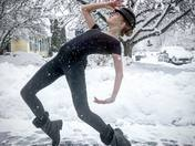 Dancing Fosse style in the snow!
