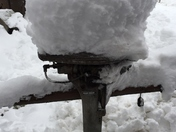 Boat motor collects the snow!