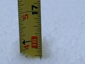 Wrightsville's  snow accumulation