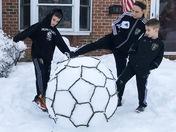 Spring snow soccer!