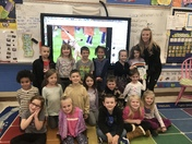 Miss Georgetown speaks to La France Elementary's Kindergarten students