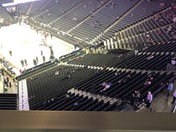 10 minutes til game time. Nobody in the arena