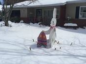 Nothing is going to stop this bunny from celebrating Easter!