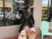 Mitch and Abby with Mr Mooae in Old Forge. Ny
