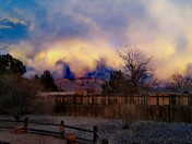 Gorgeous sunset and some crazy weather