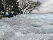 Lake Winnebago ice shove