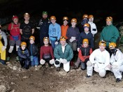 Cave Camping Grandson Donovin Bell with hes Trail Life Group of Scouts