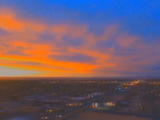 AERIAL VIEW OF THE FIRE N THE SKY OVER ABQ NM