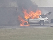 About 2:30 p.m. on Meridian Way Westchester i passed by this vehicle fire..