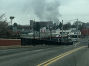 Downtown Lancaster Fire from Prince Street