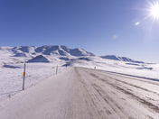 Richardson Mountains with Camera Flare, NWT